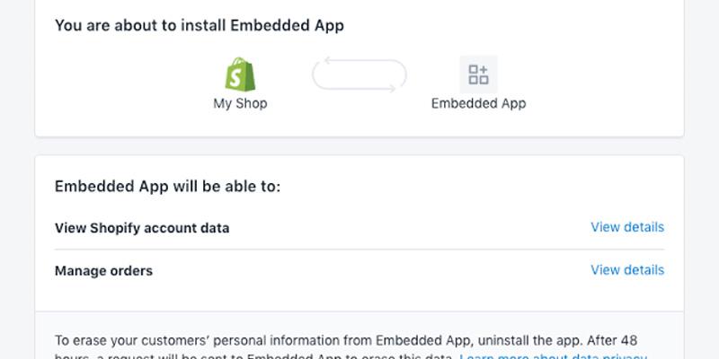 Shopify Database STORING